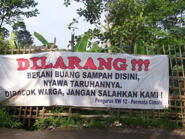 dilarang buang sampah